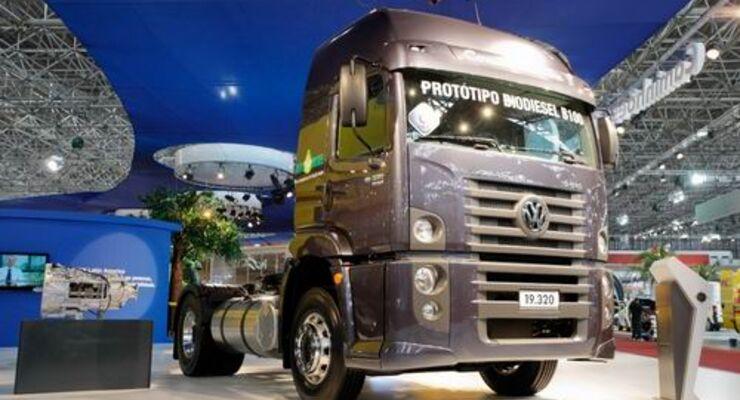VW Constellation von MAN Latin America fährt mit reinem Biodiesel
