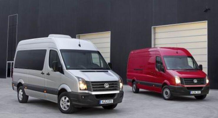 VW Crafter mit neuen Motoren und veränderter Front