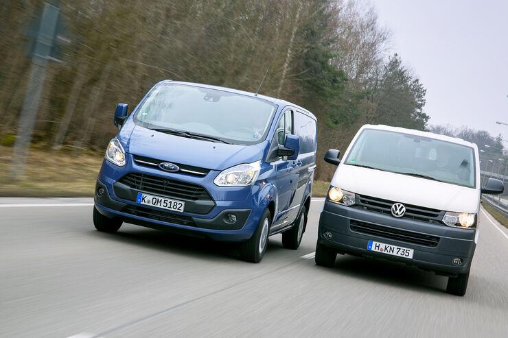 VW T5 gegen Ford Transit Custom