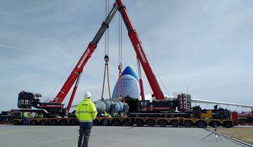 Verladung der Abhitzekessel in eine Antonow An-225