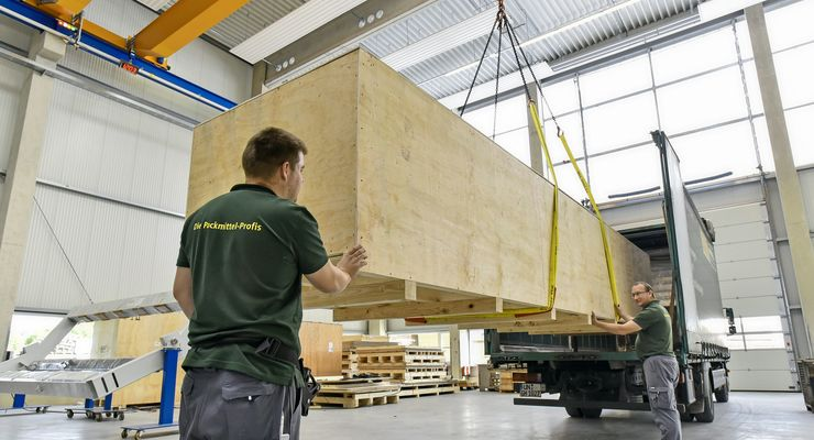 Verpackung in Holz