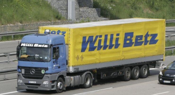 Willi Betz schränkt Ladungsverkehre ein