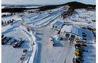 Wintererprobung in Arjeplog, Knorr-Bremse, MAN, Teststrecke, Vogelperspektive