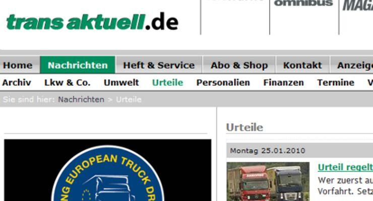 Zwei neue Rubriken auf transaktuell.de