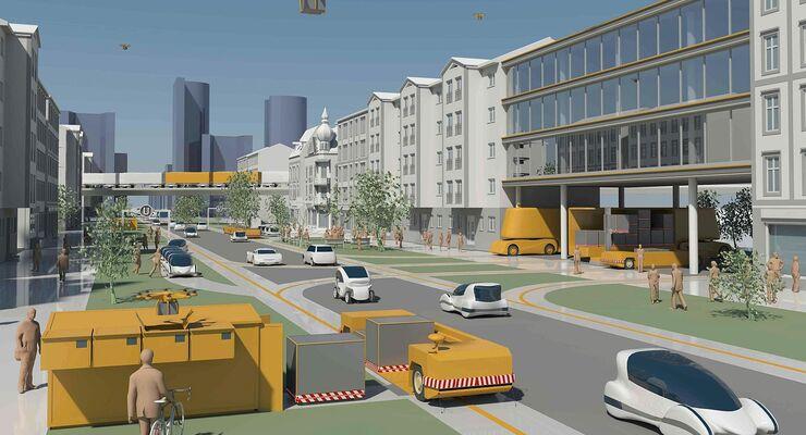 autonomes Fahren, automatisiertes Fahren, Güterverkehr der Zukunft