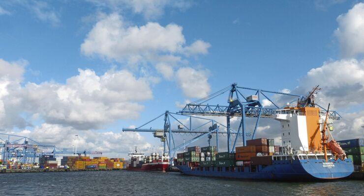 hafen rotterdam, container, terminal, kombinierter verkehr, kv