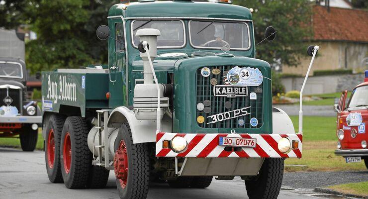 historisch, Lkw, Oldtimer, Deutschlandfahrt