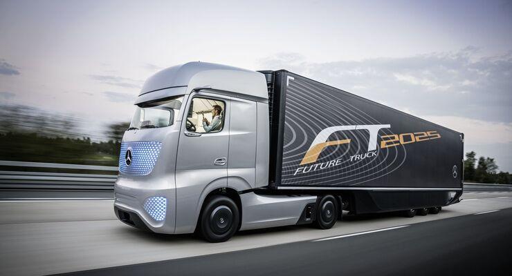 mercedes-benz future truck: daimler blickt ins jahr 2025 - eurotransport