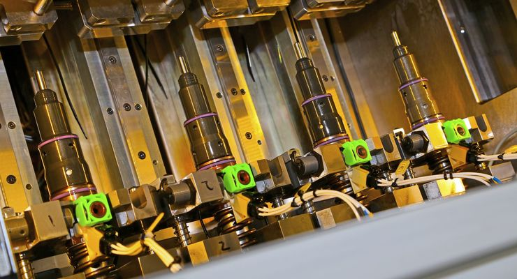 injektor, f2, test, produktion