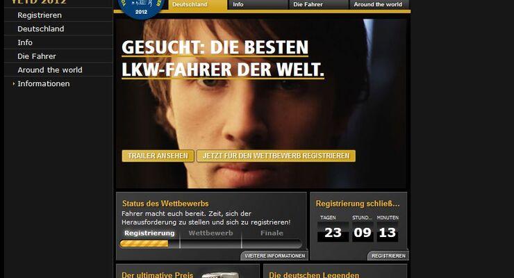 scania, homepage, european truck driver, 2012